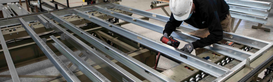 Wall manufacturing at Mark III's MEP Manufacturing Facility
