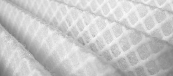 Close up view of air filter fibers.